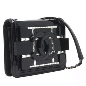 CHANEL Bags - Limited Edition Patent Leather Mini Boy Brick